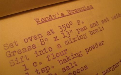 Wendy's Brownies Recip