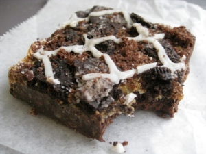 Oreo Brownie - one bite