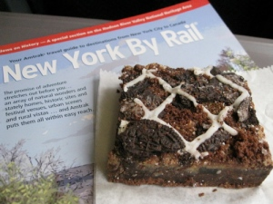 Oreo Brownies and Amtrak magazine